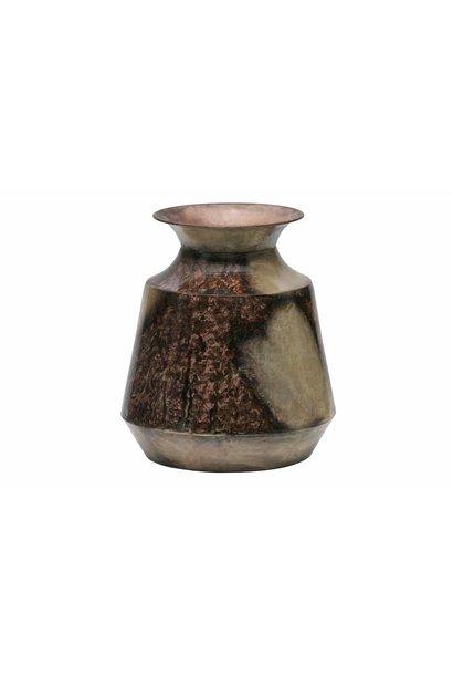 vaas metaal goud/koper L