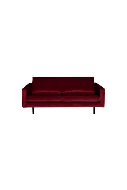 Velvet 2,5-zits bank rood