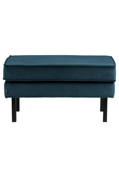 Hocker velvet blue
