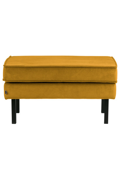Hocker velvet oker