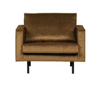 ZENZ fauteuil velvet honing geel