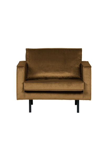 fauteuil velvet honing geel