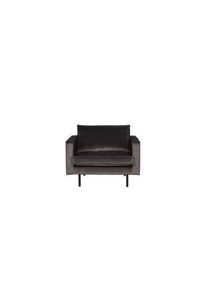 fauteuil velvet antraciet