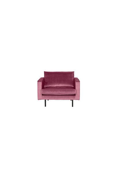 fauteuil velvet pink