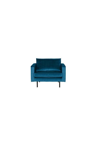 fauteuil velvet blue