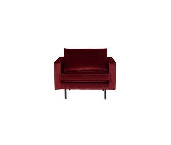 ZENZ fauteuil velvet red