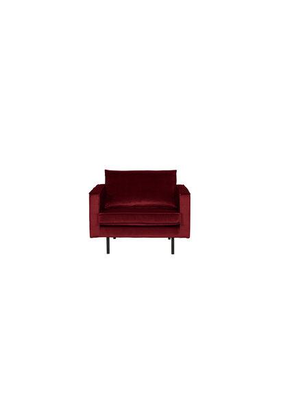 fauteuil velvet red