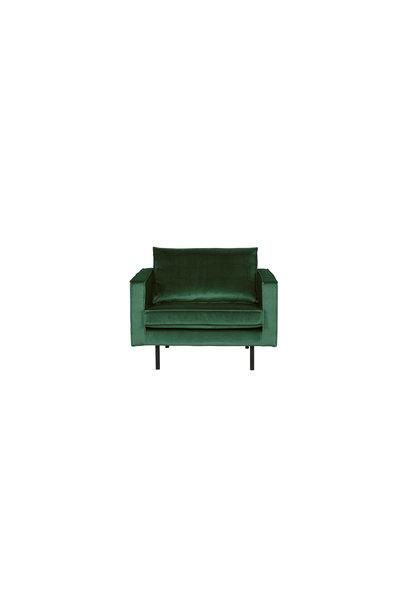 fauteuil velvet forest green