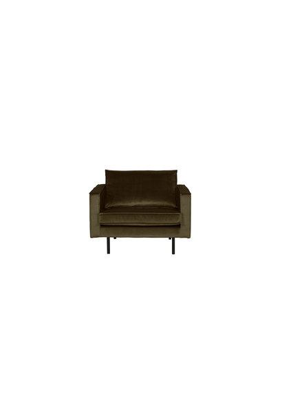 fauteuil velvet dark green