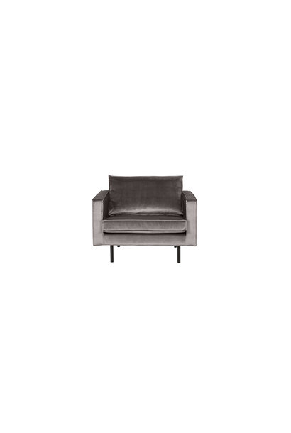 fauteuil velvet taupe