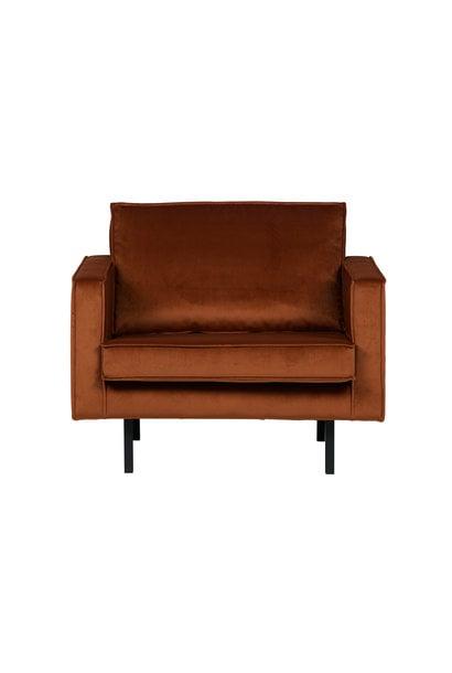 fauteuil velvet roest