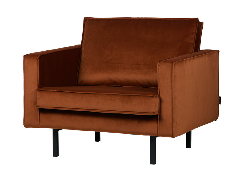 ZENZ fauteuil velvet roest