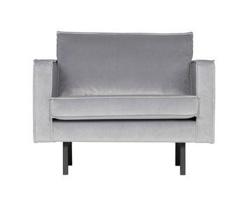 ZENZ fauteuil velvet licht grijs