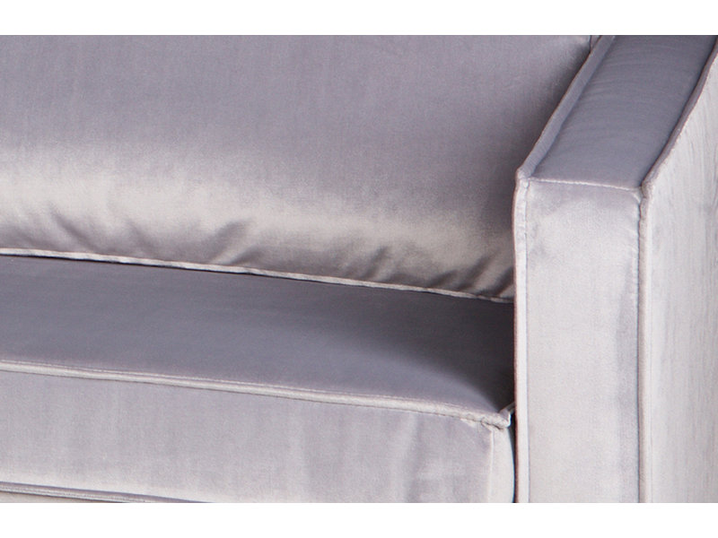 ZENZ Velvet chaise longue rechts licht grijs