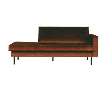ZENZ Velvet chaise longue rechts roest