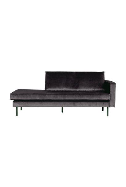 Velvet chaise longue rechts antraciet