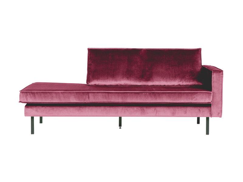 ZENZ Velvet chaise longue rechts pink
