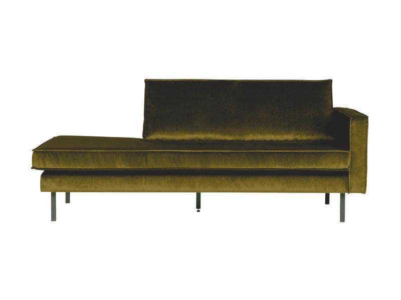 ZENZ Velvet chaise longue rechts olive