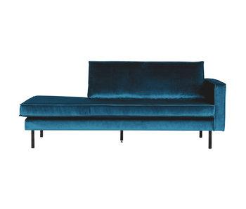 ZENZ Velvet chaise longue rechts blue