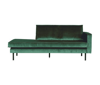 ZENZ Velvet chaise longue rechts forest green