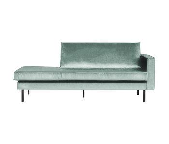 ZENZ Velvet chaise longue rechts mint