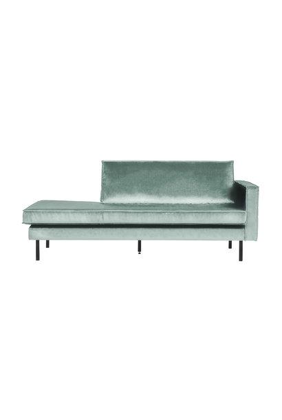 Velvet chaise longue rechts mint