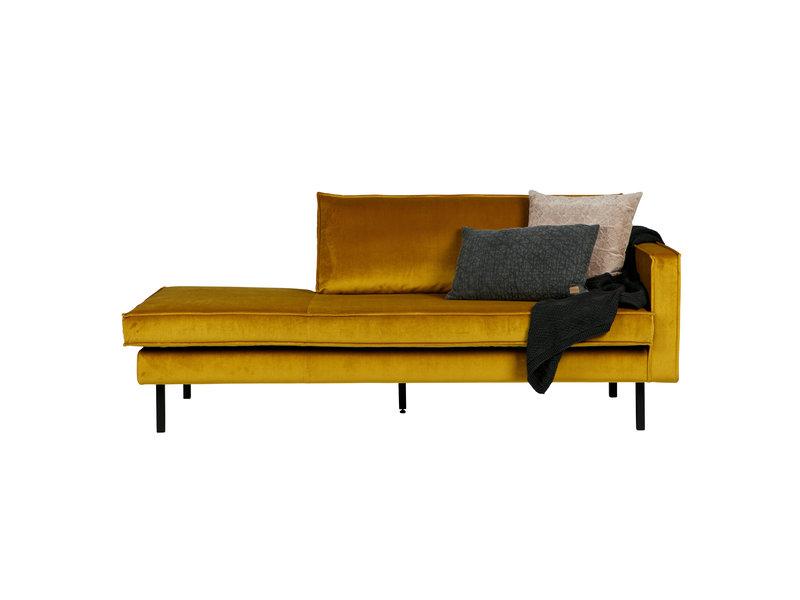 ZENZ Velvet chaise longue rechts oker