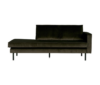 ZENZ Velvet chaise longue rechts dark green