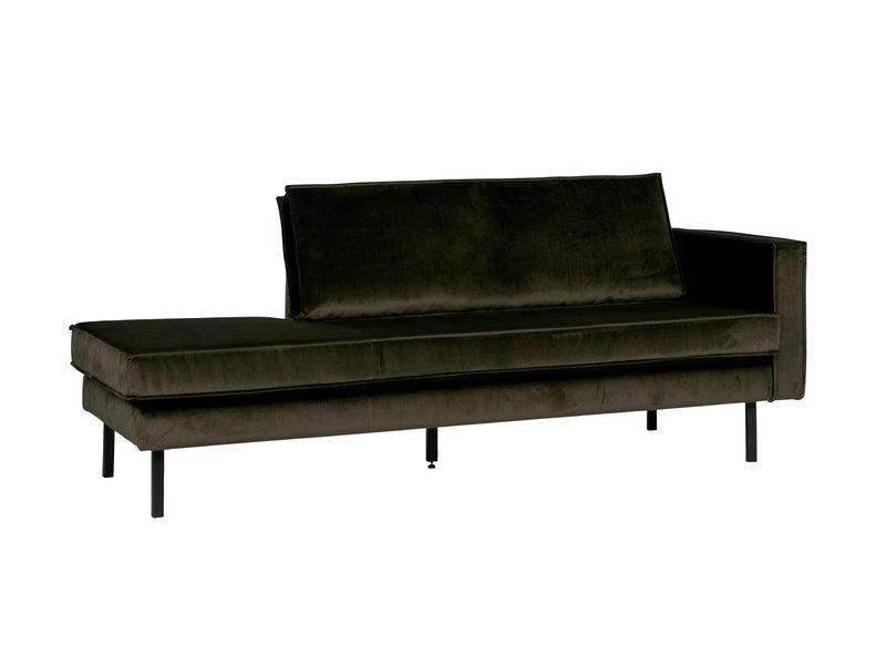 ZENZ Velvet chaise longue rechts dark green