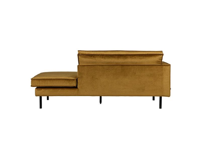 ZENZ Velvet chaise longue links honing geel