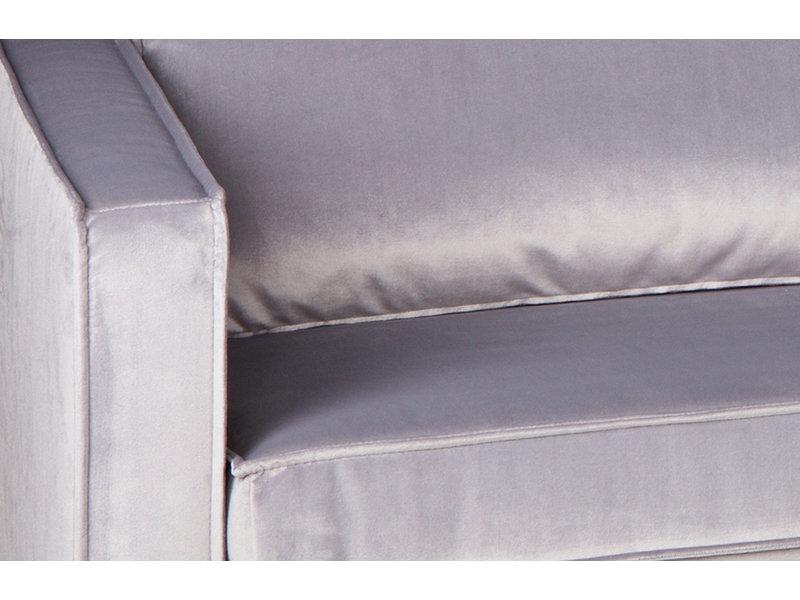 ZENZ Velvet chaise longue links licht grijs