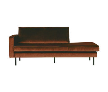 ZENZ Velvet chaise longue links roest