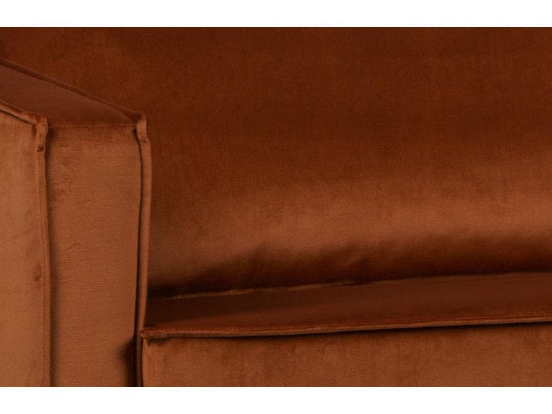 ZENZ Velvet chaise longue links roest