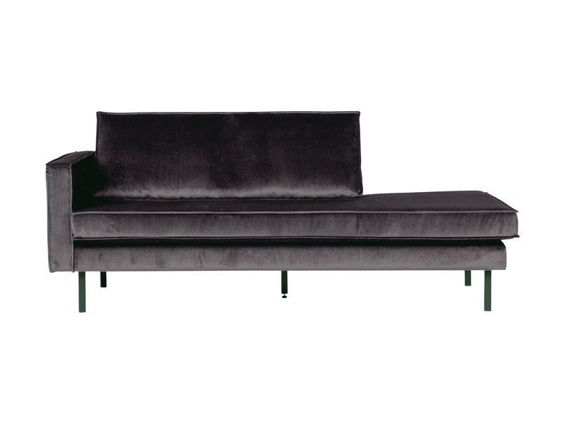 ZENZ Velvet chaise longue links antraciet