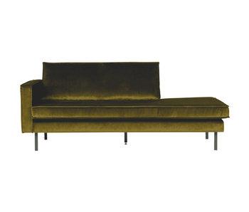 ZENZ Velvet chaise longue links olive