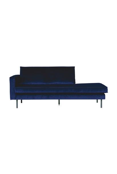 Velvet chaise longue links night blue