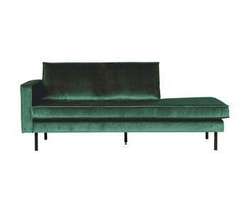 ZENZ Velvet chaise longue links forest green