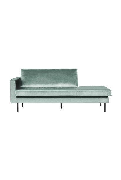Velvet chaise longue links mint