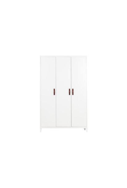 3 deurs metalen kast wit