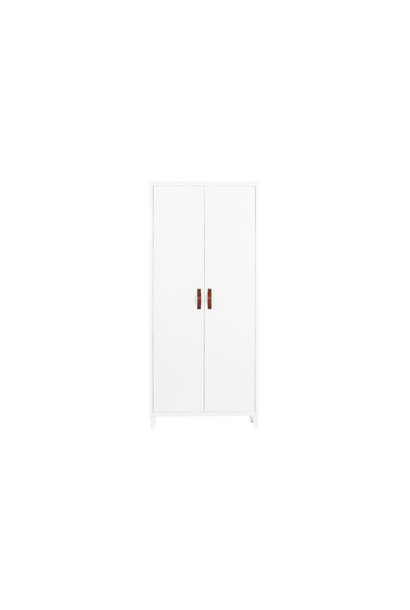 2 deurs metalen kast wit