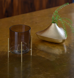 Urban Nature Culture Wax light holder on foot, ebony in gift pack