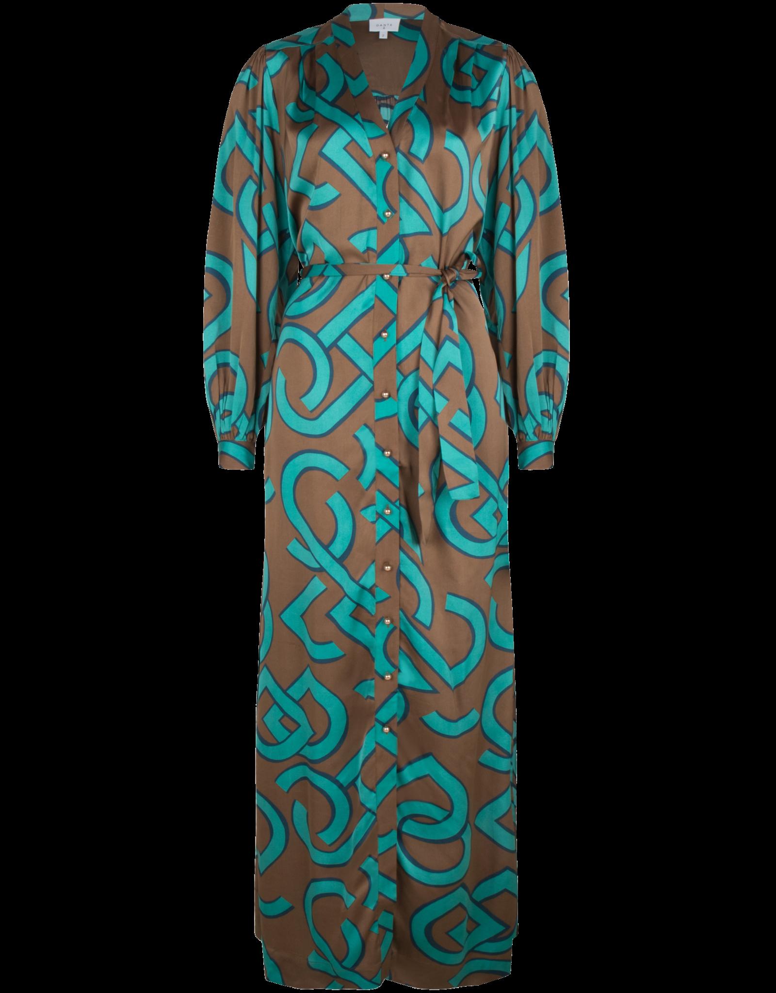 Dante6 Magnify logo print dress