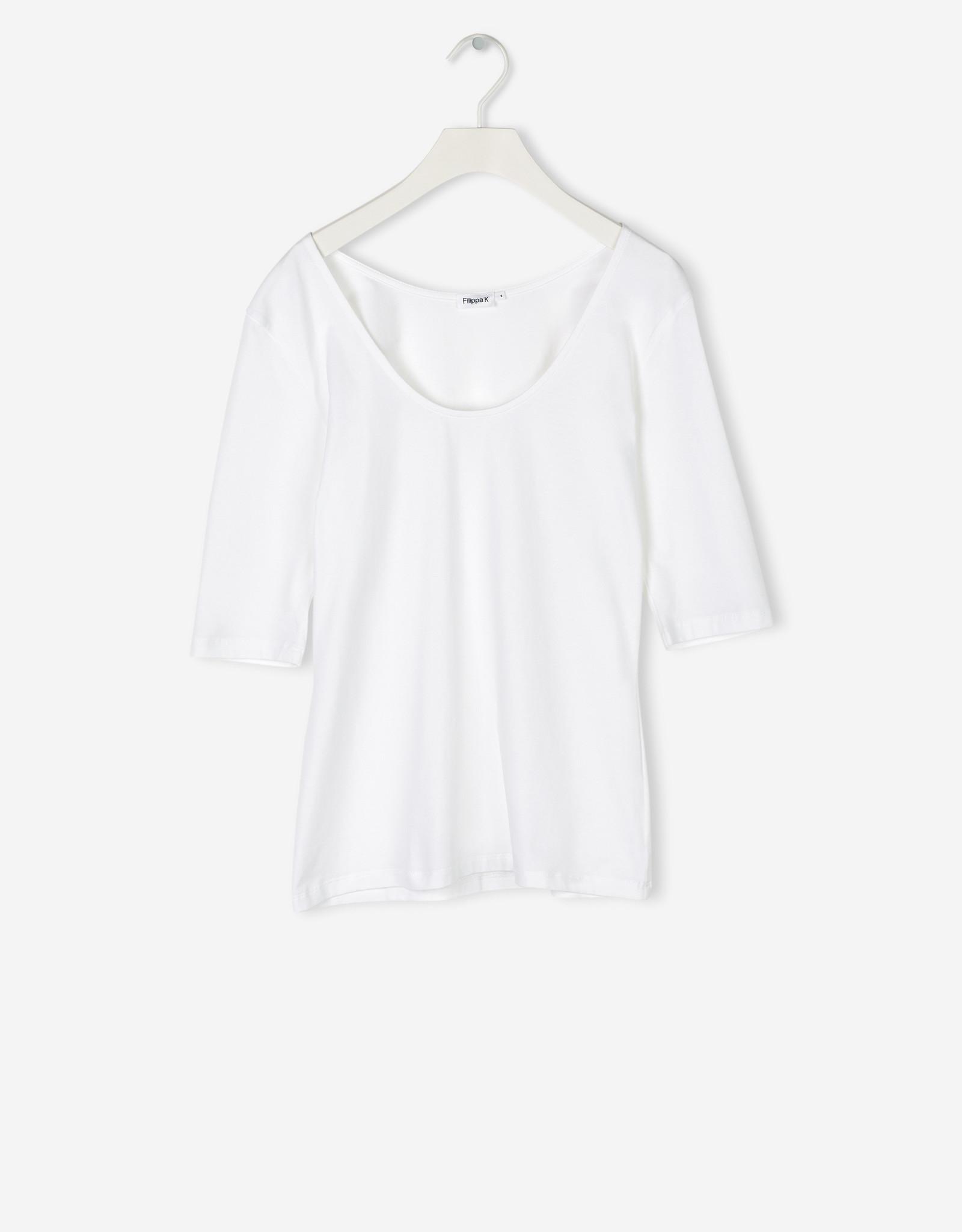 Filippa K Cotton Stretch Scoop Neck Top