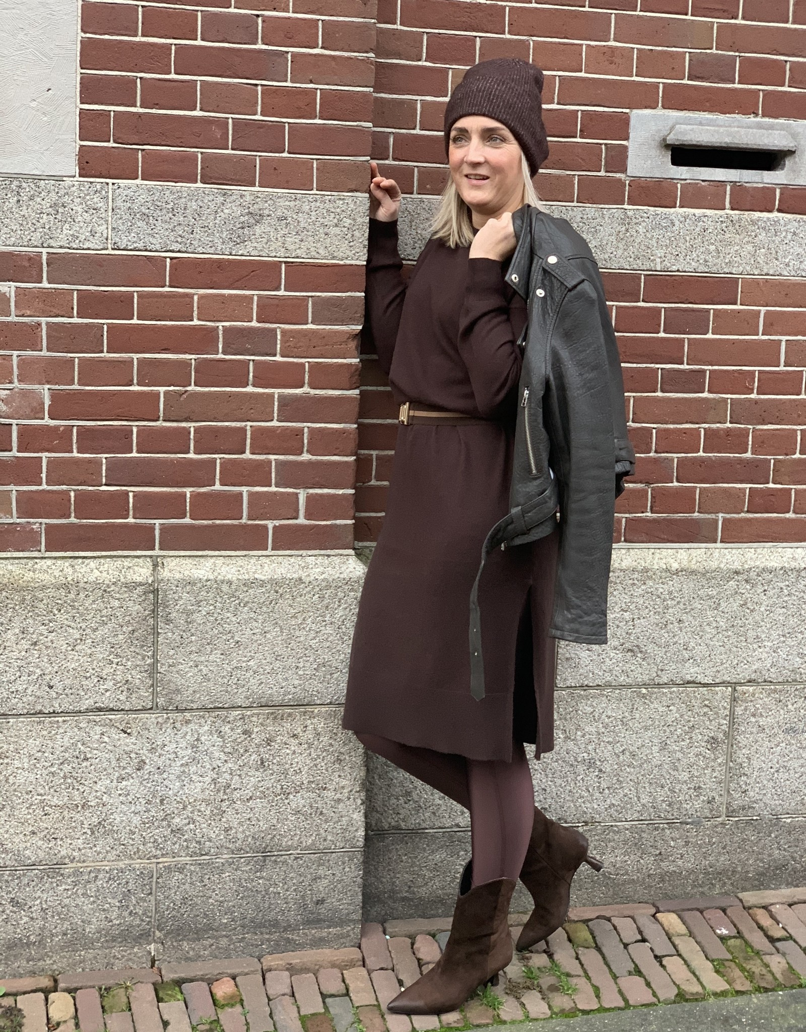 Dante6 Lyng long knit sweater dress