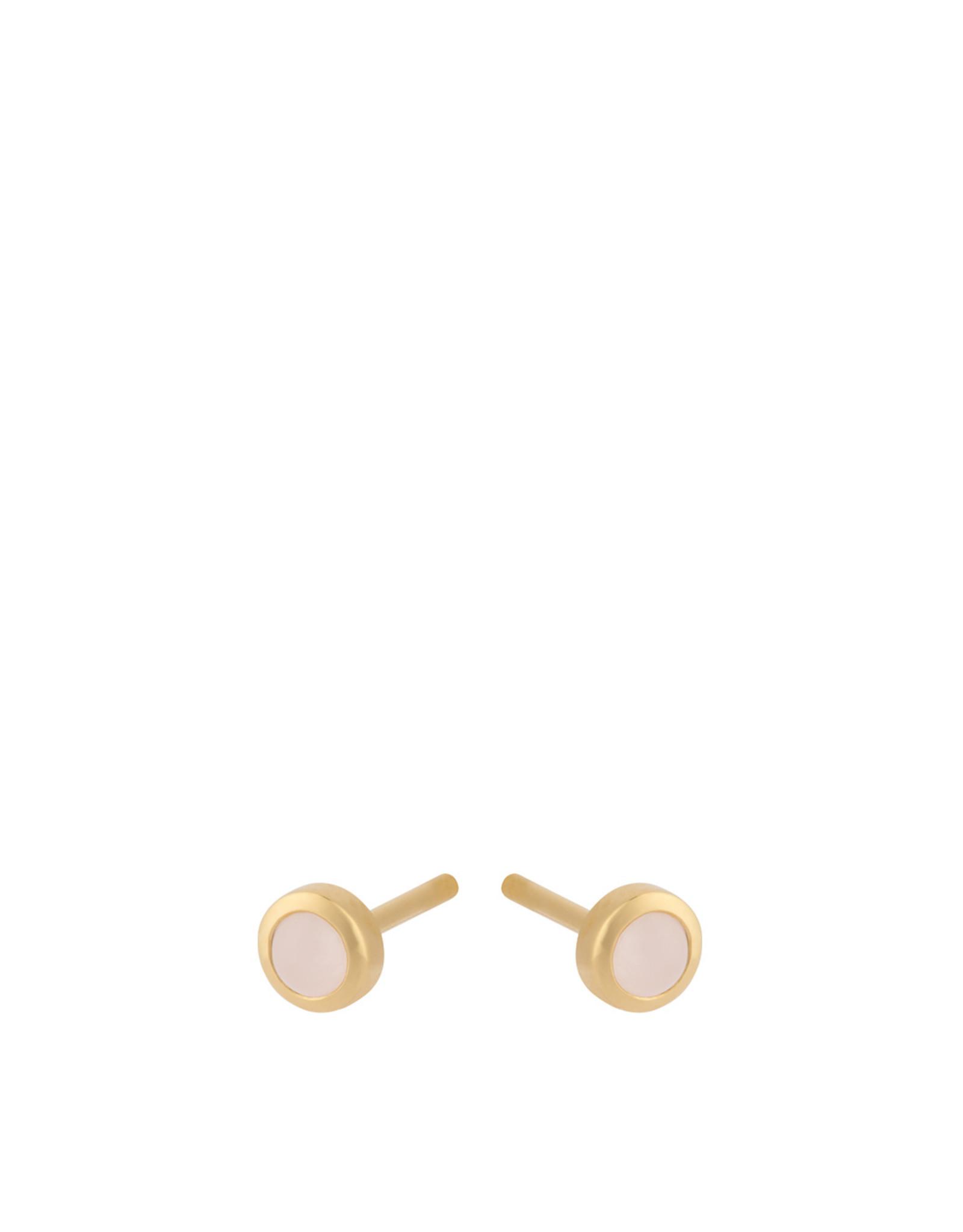 Pernille Corydon Shine Rose Earsticks, Quartz 3 mm