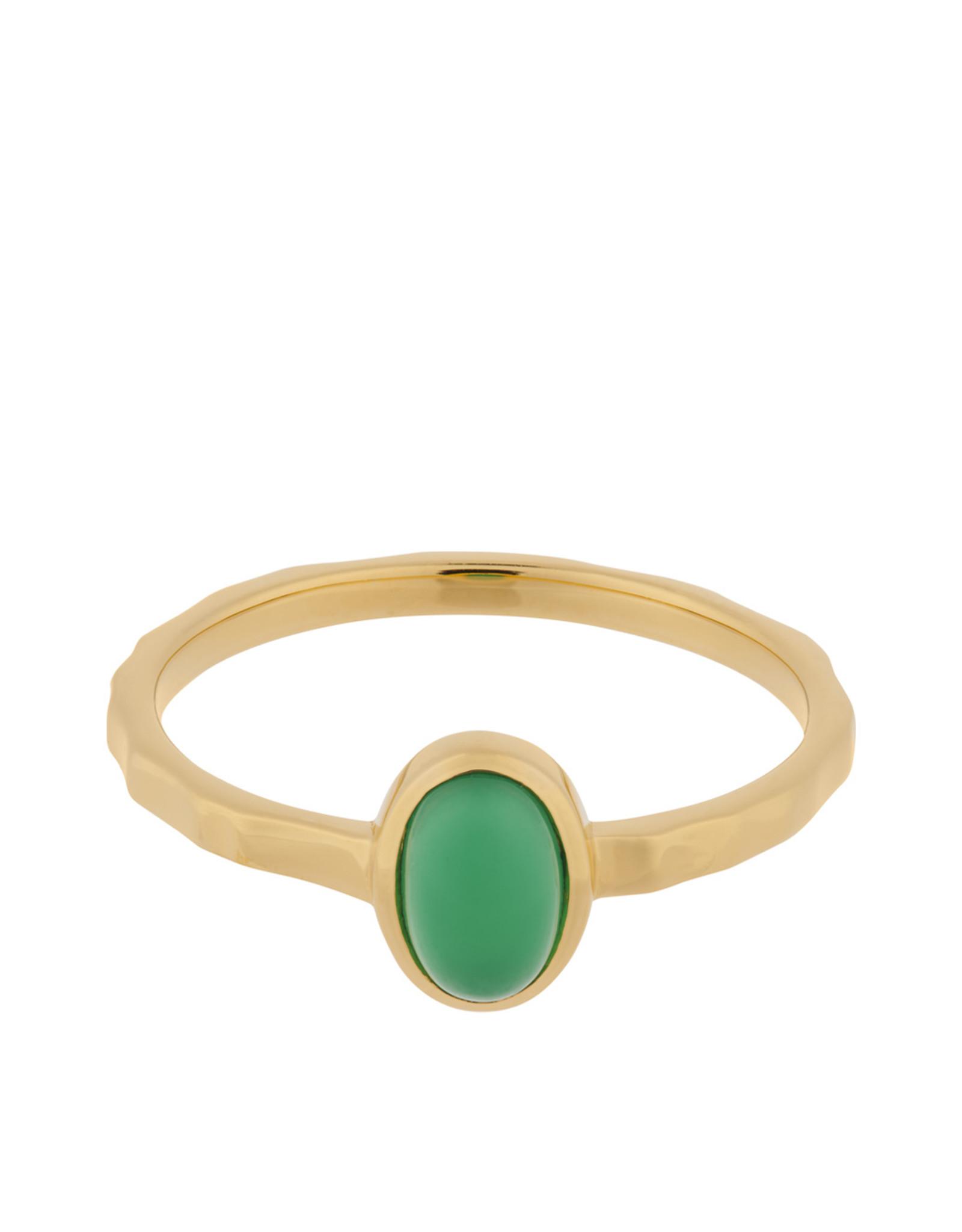 Pernille Corydon Shine Green Ring - Chalcedony 52