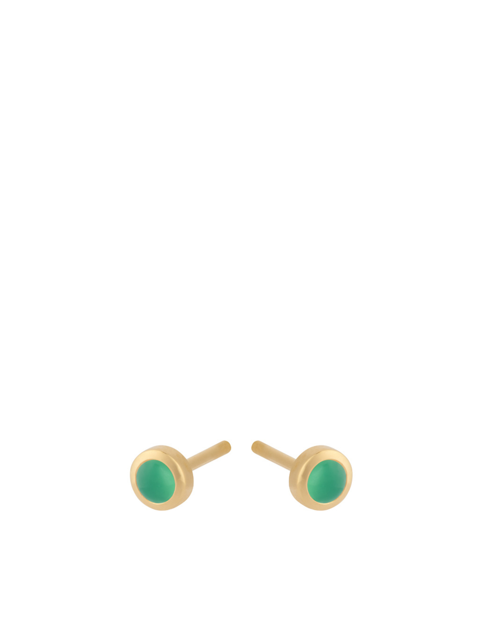 Pernille Corydon Shine Green Earsticks, chalcedony