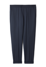Filippa K M. Terry Cropped Trouser Navy