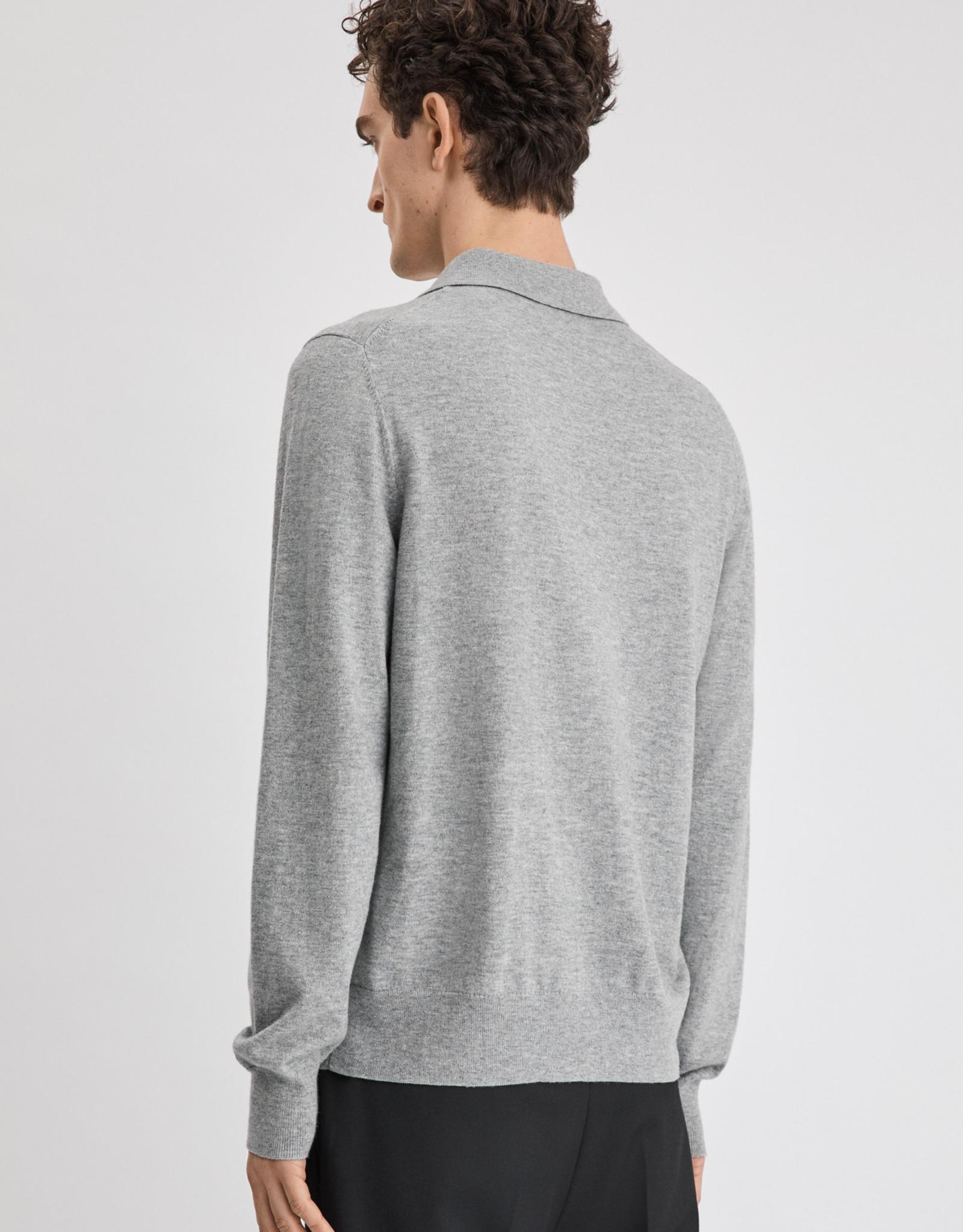 Filippa K M. Knitted Polo Shirt Light Grey