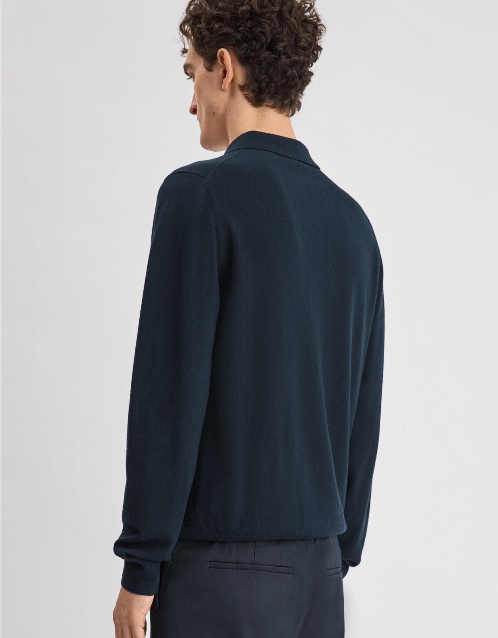 Filippa K M. Knitted Polo Shirt Navy